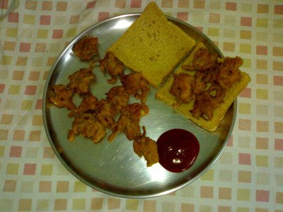 Bhajji on a platter