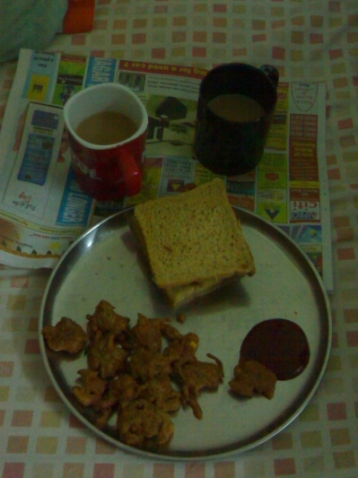 Bhajji with Garma garam chai!
